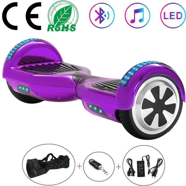 Blue Hoverboard with Bluetooth - Sam's Hoverboard
