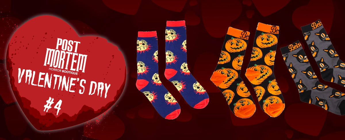halloween horror themed socks