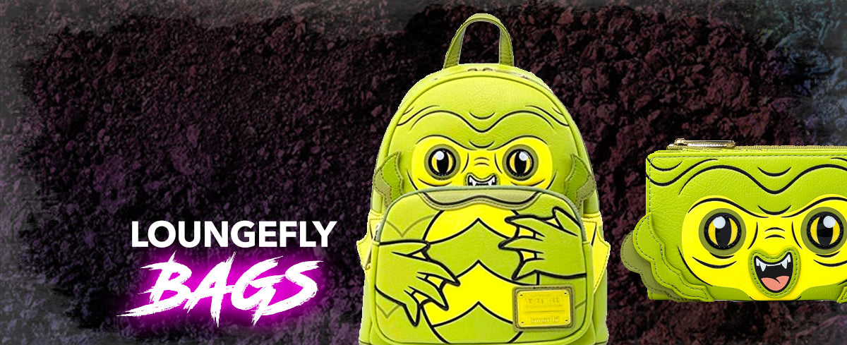 loungefly universal monsters mini backpack and wallet