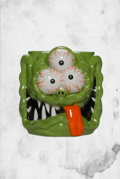 creepy monster coffee cup