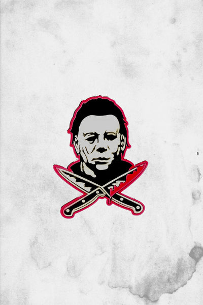 Michael meyers Knive Pin Rock Rebel