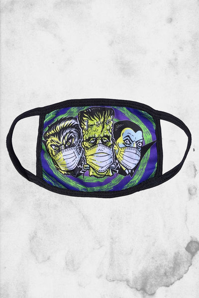 monster mash fabric face mask