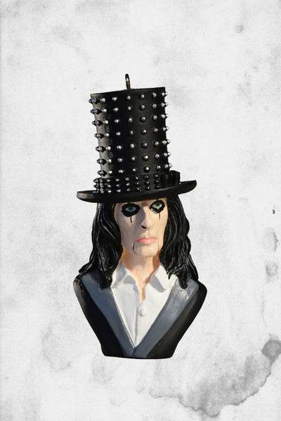 Alice Cooper christmas ornament