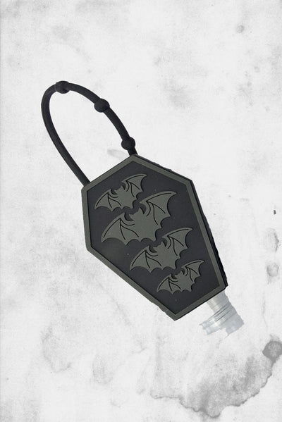 bat coffin halloween hand sanitizer holder