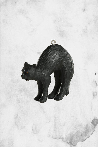 halloween black cat christmas ornament