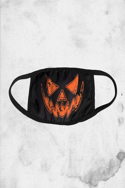 halloween pumpkin face mask