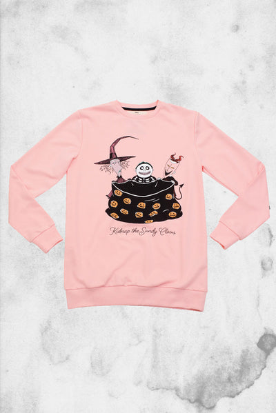 kidnap the sandy claws nightmare before christmas cakeworthy sweater