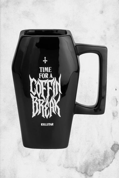 coffin shaped coffee mug killstar