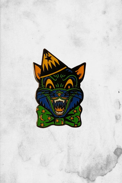 crazy cat enamel pin classic halloween decoration