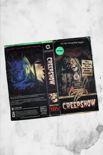 creepshow horror themed blanket