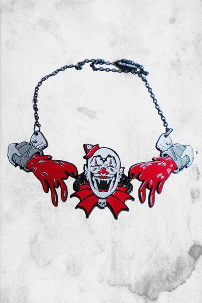 creepy clown halloween neckalce fashion
