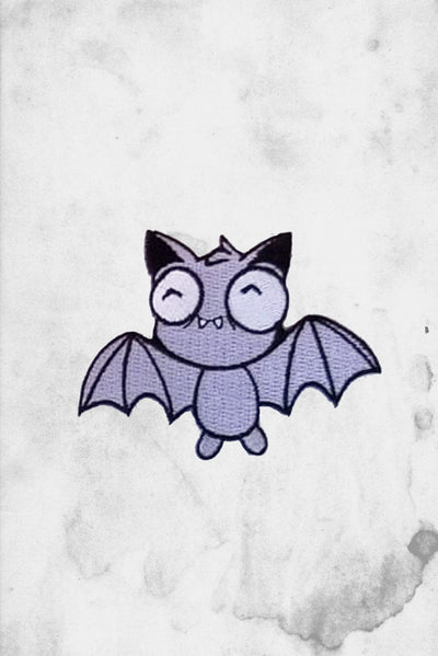 cute bat iron-on patch