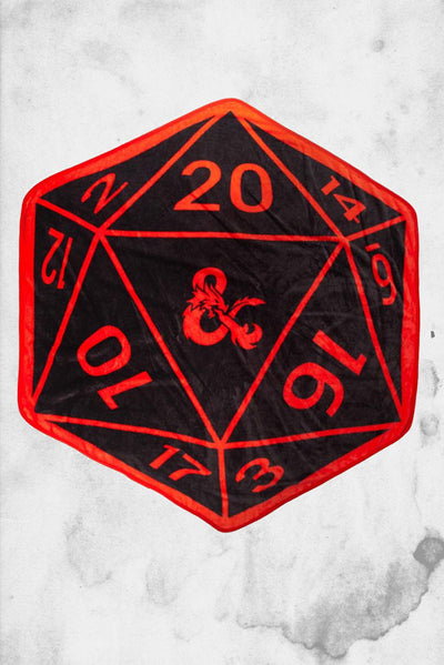 dungeon and dragons d20 blanket