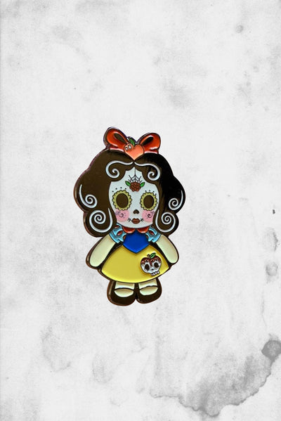 Snow White Day of the Dead Fantasy Pin