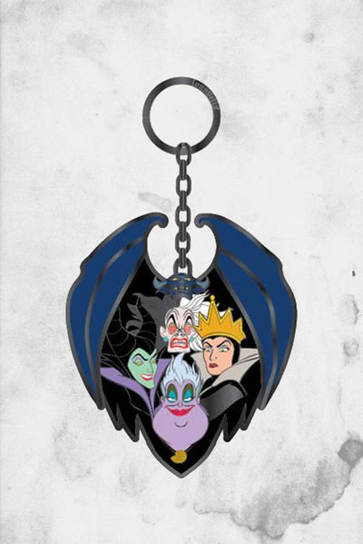 disney villains grou[ keychain