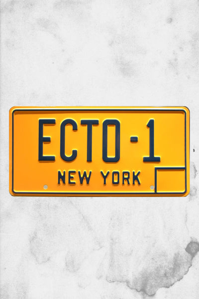 ecto-1 license plate ghostbusters original replica