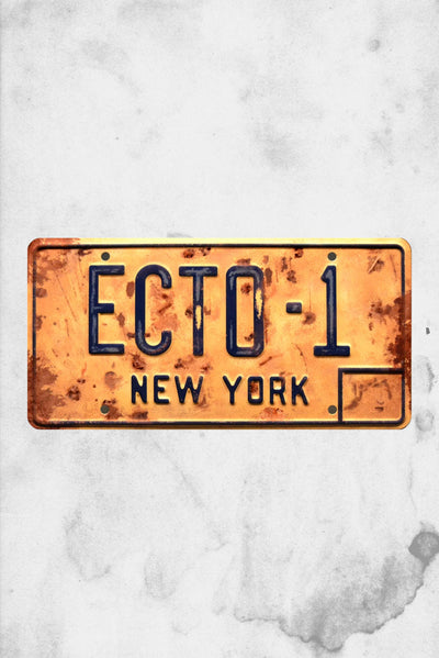 ecto 1 afterlife ghost busters licensed plate movie replica plate