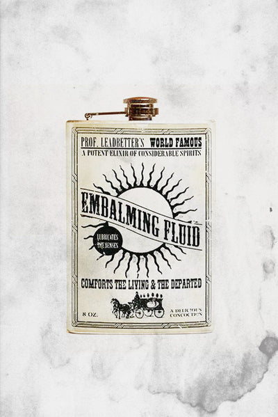 embalming fluid flask halloween