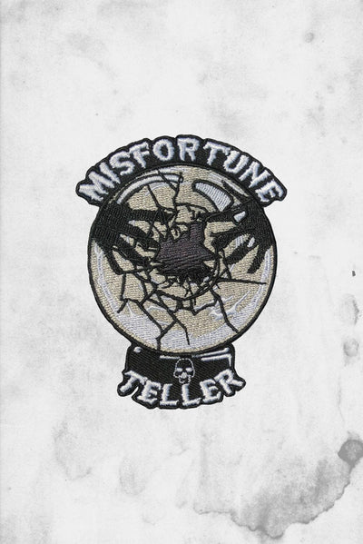 misfortune teller iron on patch horror