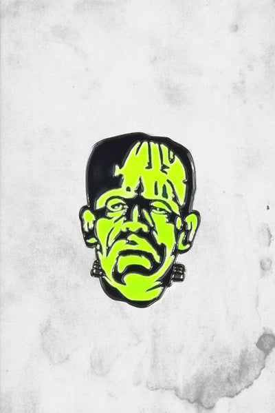 frankenstein head enamel pin