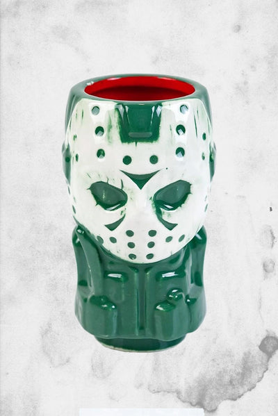 creepy horror themed shot glass jason tiki