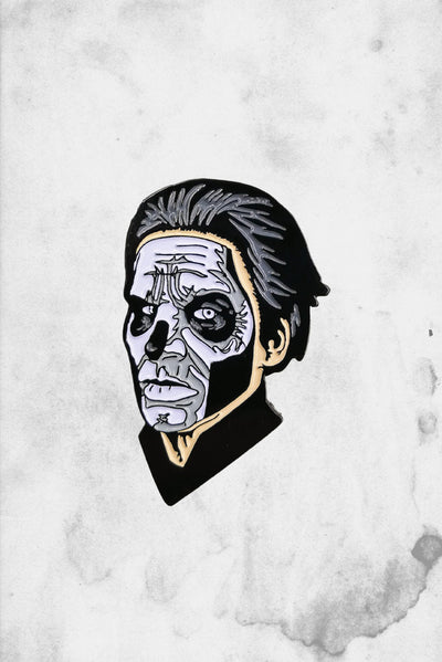 ghost papa II enamel pin band