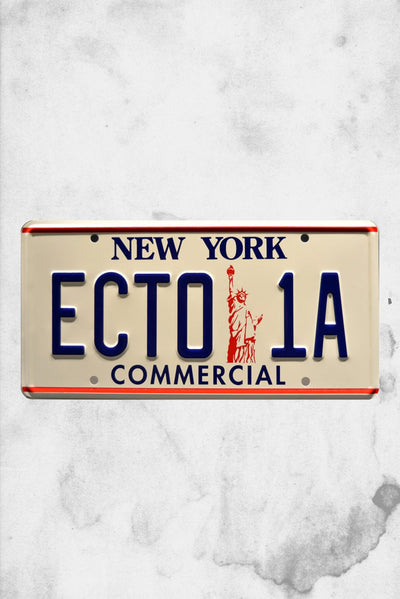ghosbtsers ecto 1A movie prop plate