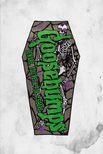 goosebumps coffin shaped beachtowel kreepsville horror