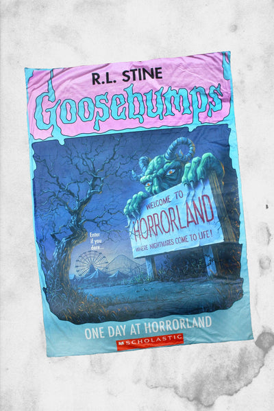 goosebumps creepy co horrorland blanket