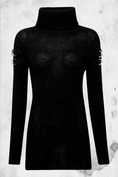 black knit sweater kill star
