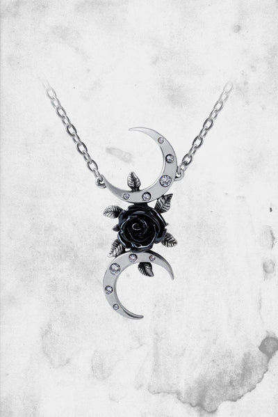 black moon necklace wica three goddess