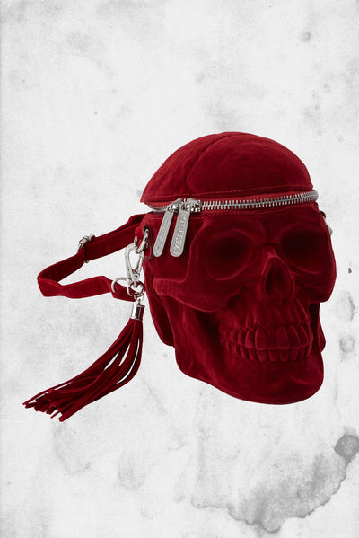 blood red killstar grave digger skull purse