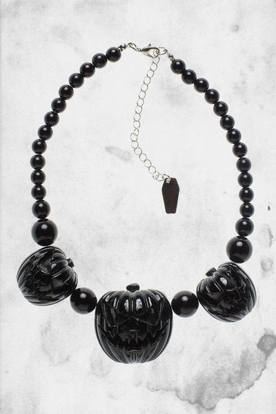 Pumpkin horror female necklace Halloween
