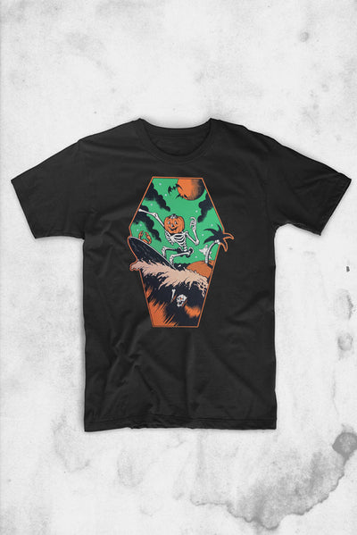 halloween shirt company pumpkin surfer
