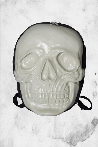 skull white backpack