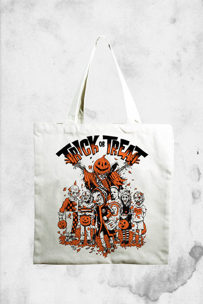 classic halloween themed tote bag
