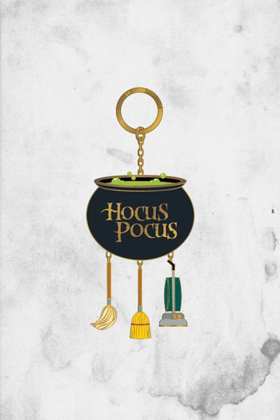 hocus pocus cauldron disney keychainb