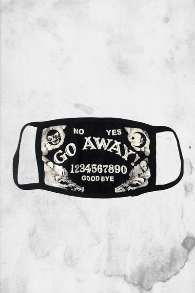 horror themed funny go away face mask