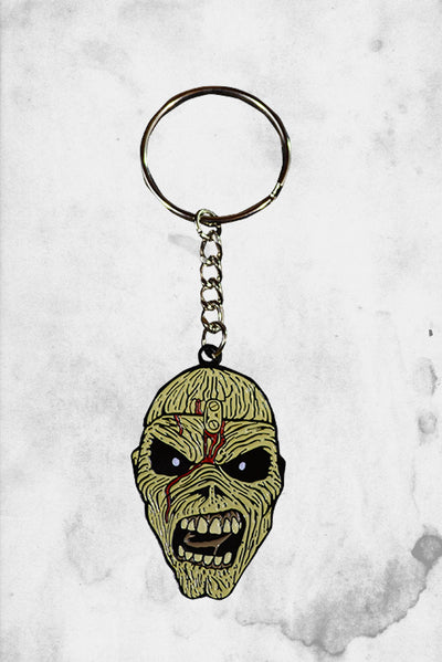 iron maiden eddie piece of mind keychain mask trick or treat studios