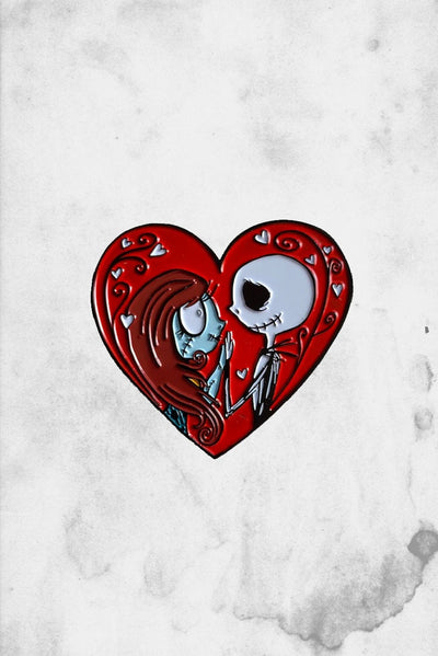 jack and sally fantasy art pin spooksieboo