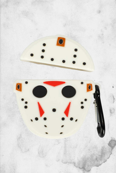 horror themed apple airpod case jason vorhees