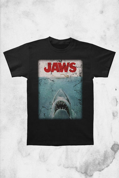 Jaws logo t-shirt poster rock rebel