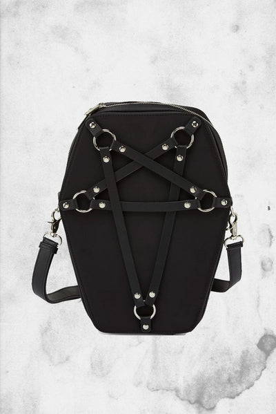 cute coffin killstar shaped backpack
