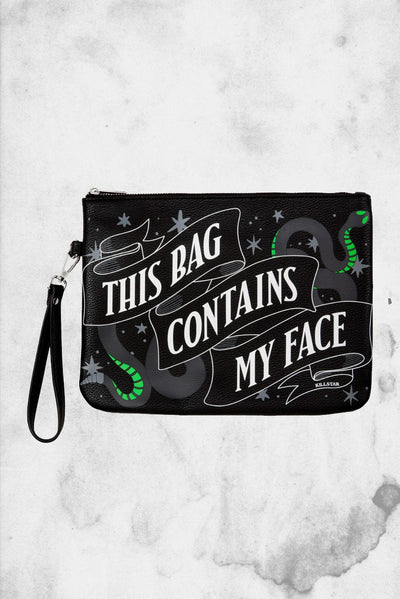 faux leather makeup bag killstar