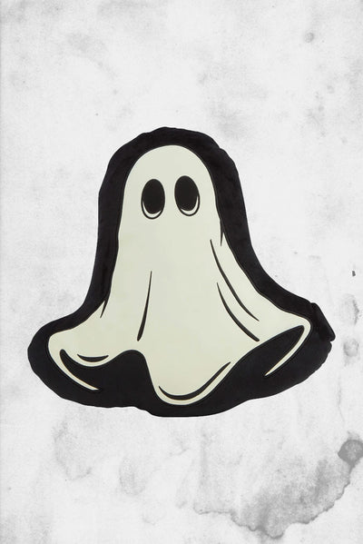 killstar glow in the dark ghost shaped pillow