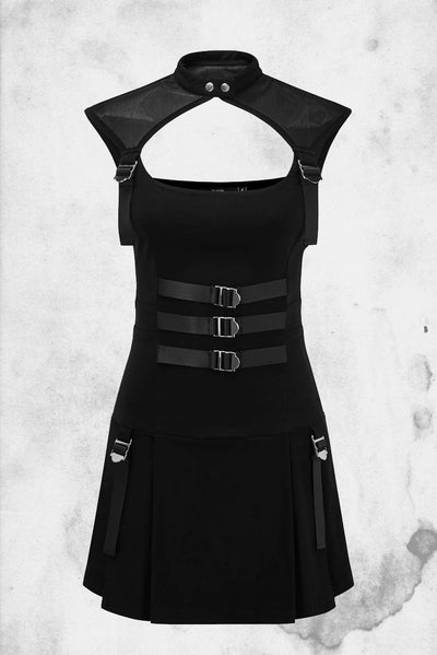 killstar amplified dress goth black strap