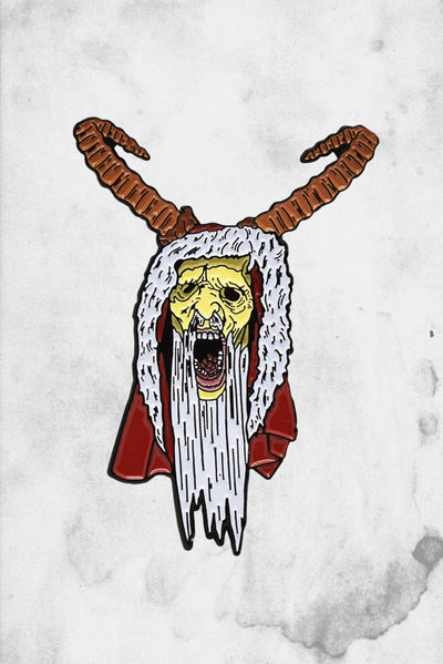 Krampus movie enamel pin