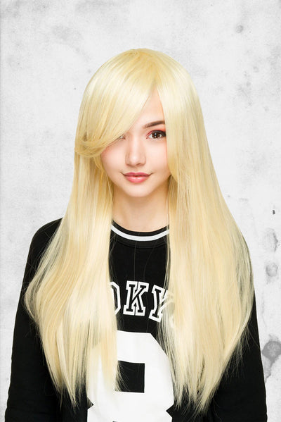 light blonde cosplay halloween wig