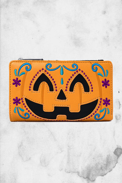 loungefly pumpkin wallet