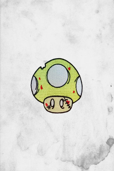 1UP Zombie Mario Iron on Patch